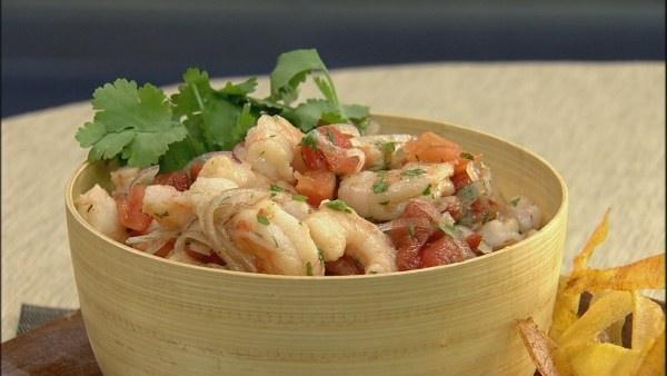 Ecuadorian shrimp ceviche recipe lets dish the live well network ecuadorian shrimp ceviche forumfinder Gallery