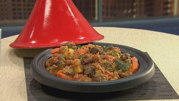 Moroccan Lamb and Vegetable Meatball Tagine