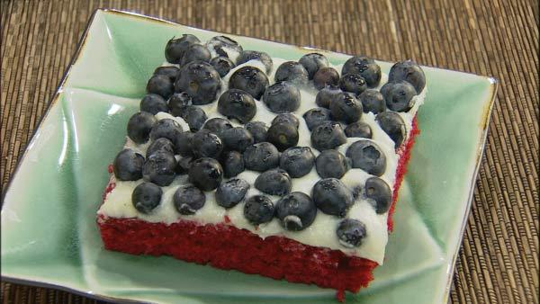 Red White and Blue Velvet Cake Lets Dish The Live Well Network