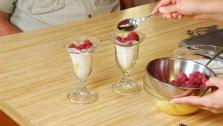 Pineapple-Raspberry Parfaits