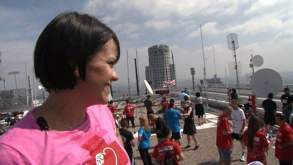 Ali Vincent Fights Nausea, Finishes Stair Climb
