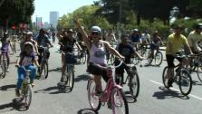 Ali Vincent, Live Big Participants Bike in CicLAvia Event