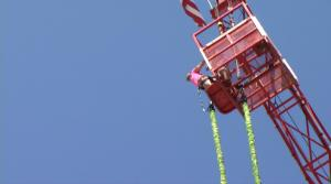 Ali Vincent Faces Her Fears While Bungee Jumping