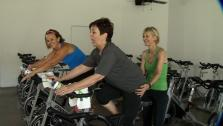 Ali and Bette-Sue Try Yoga Spin Class