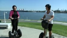 Ali and Bette-Sue Speed Around L.A. on Segways