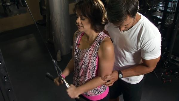 Ali Vincent Works Out With Fitness Model David Kimmerle