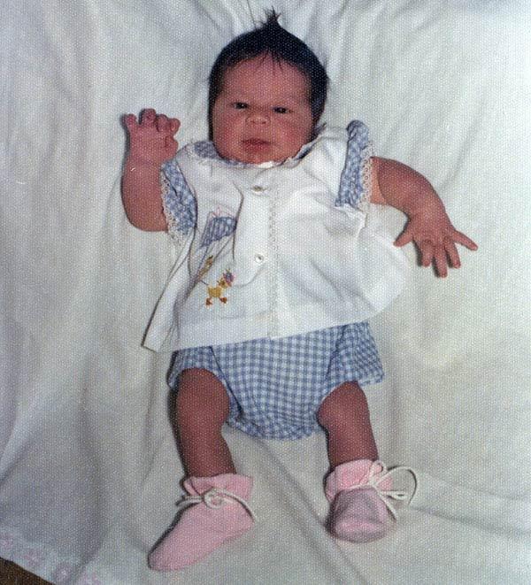 Here's newborn Ali, less than 10 days old.