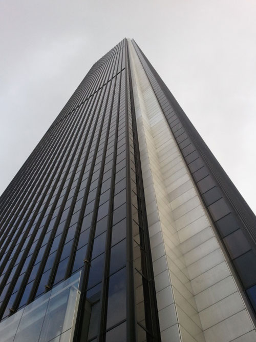 The AON building is the second tallest building...