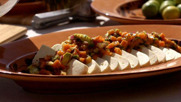 Fresh Cheese with Papaya-Chipotle Salsa