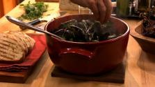 Steamed Mussels with Chorizo and Crushed Chiles