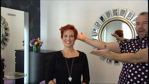 Woman Gets New Hairstyle for Short Hair
