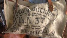 Meet a couple who designs and makes unique leather bags and accessories in an old, small-town mattress factory.