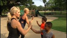 Heres a fun, simple toning and cardio workout you can do with your family at any local park.