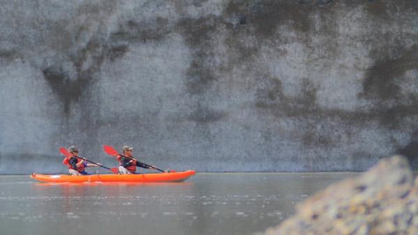 Kayaking at the Foot of Root Glacier