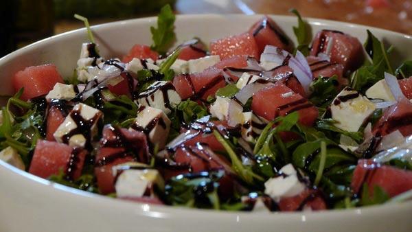 Watermelon and Arugula Salad | My Family Recipe Rocks! | The Live Well ...