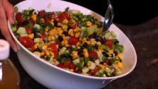 Black bean corn salsa salad is a generational family recipe from Danae Halliday passed down from her mother.