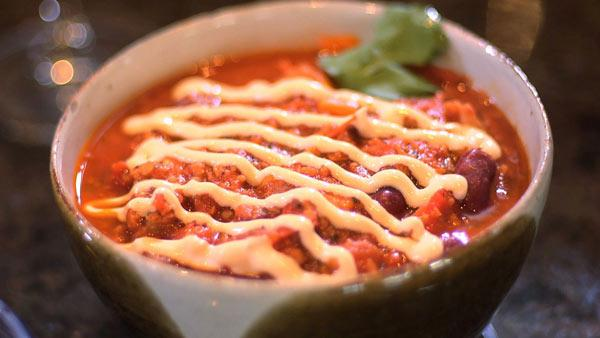 Vegan chili is a family recipe from Corine Green.