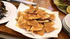 These baked pita chips are a perfect accompaniment to any dip.