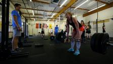 Coach Matt Lucas, owner of Free Range CrossFit and TheFoodie.com, motivates his members to workout hard and eat healthy!