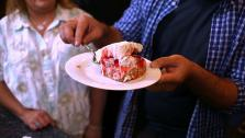 This no-bake strawberry dessert is great for making ahead for a summer party.