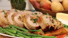 Pine Nut and Raisin Stuffed Pork Loin