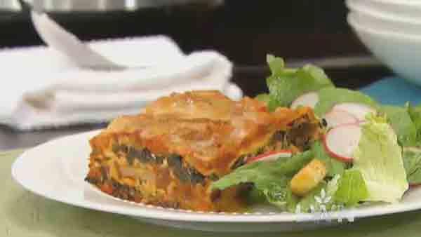 Mushroom Spinach Lasagna