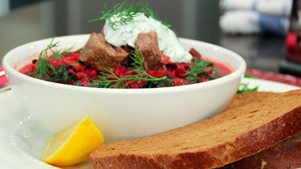 Ruby Red Borscht With Braised Short Ribs