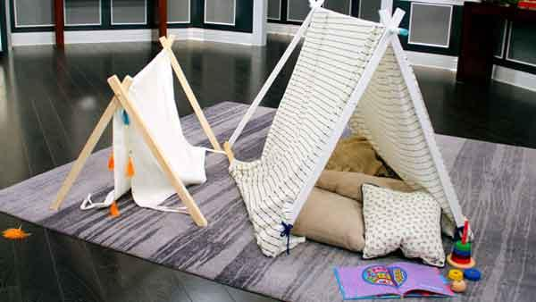 DIY Kids' Play Tent