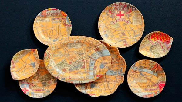 DIY Decorative Map Plates