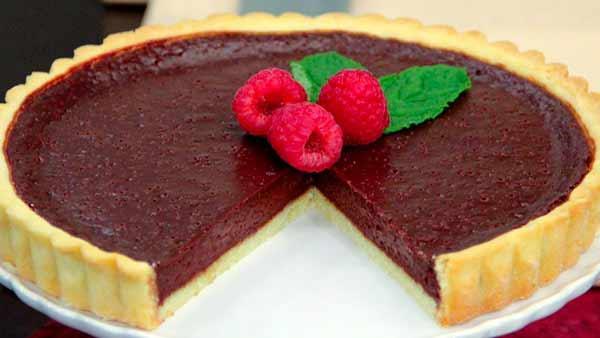 Soft-Set Dark Chocolate Tart