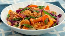 Chicken Stir Fry with Sweet Potatoes and Hoisin Sauce