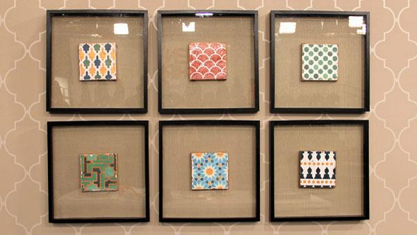 DIY Moroccan Tile Art
