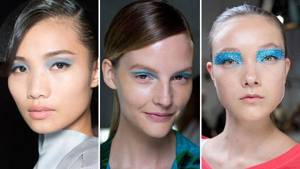 Runway Beauty Trend: Brilliant Blue