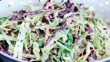 This cabbage slaw from Chef Jonathan Collins is crunchy, tangy and refreshing.