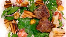 Lemon-Oregano Lamb Chops and Bread Salad