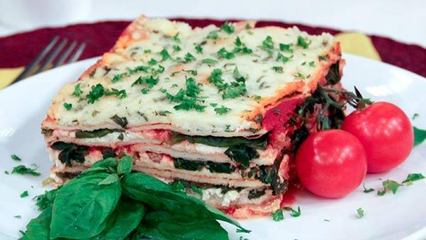 Spinach Sausage Lasagna