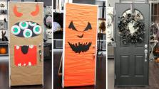 Easy Halloween Door Decor
