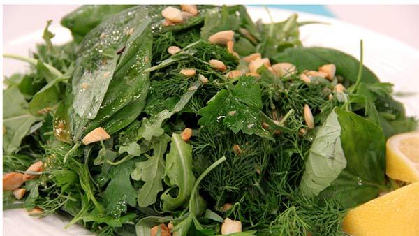 salad with herb dressing two herb blends recipe fresh herb salad ...