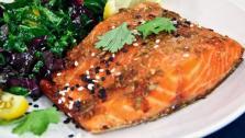 Tamari Sesame Glazed Salmon