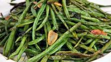 Roasted Haricots Verts with Garlic and Mint