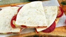 Simple Italian Cheese and Salami Quesadilla