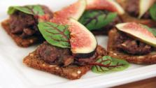 Fig and Olive Tapenade Crostini