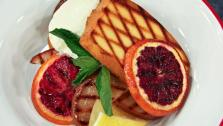 Grilled Pound Cake with Pears and Clementines