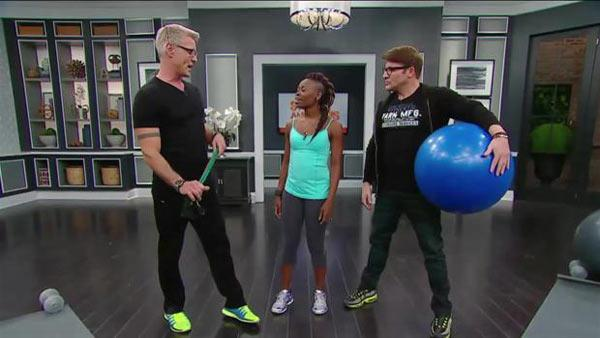 Simple Stability Ball and Resistance Band Stretches