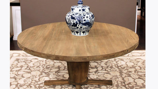 diy round dining table round wood table tutorial with wall decal. Black Bedroom Furniture Sets. Home Design Ideas